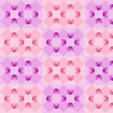 Purple (and Pink) Haze - optical illusion fabric by haleystudio on Spoonflower - custom fabric