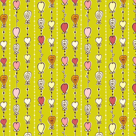 Bursting With Love fabric by heatherdutton on Spoonflower - custom fabric