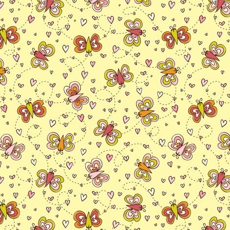 My Heart Flutters fabric by heatherdutton on Spoonflower - custom fabric