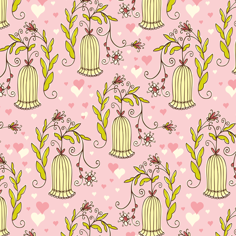 Pretty Perch fabric by heatherdutton on Spoonflower - custom fabric