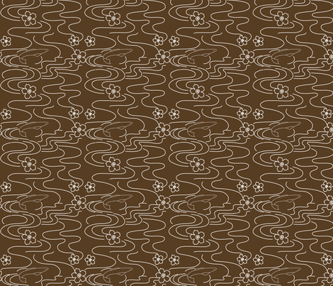 Koi_Pond_white_VDKBROWN29 fabric by mina on Spoonflower - custom fabric