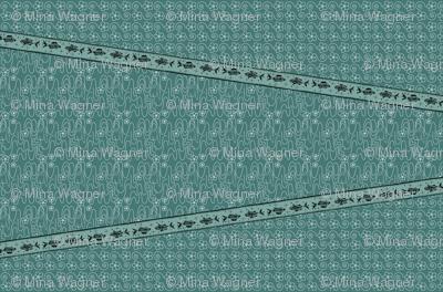 Koi_Pond_3yd_long_skirt_or_dress_gores_linen_DK-BLUEGREEN-175