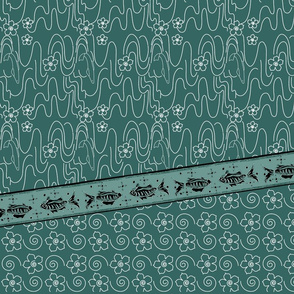 Koi_Pond_3yd_long_skirt_or_dress_gores_linen_DK-BLUEGREEN-175