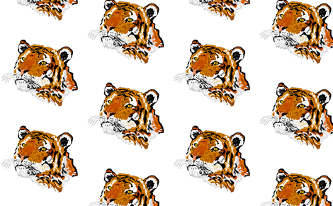 Tiger fabric by sewbiznes on Spoonflower - custom fabric