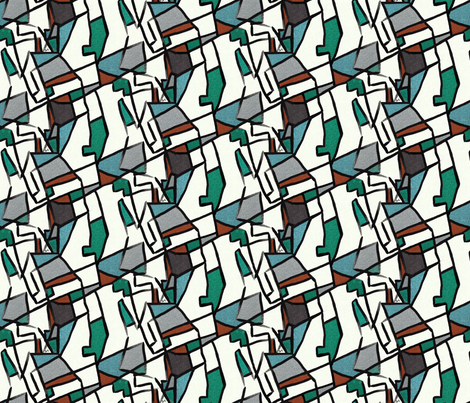 Cubism after Delaunay fabric by su_g on Spoonflower - custom fabric