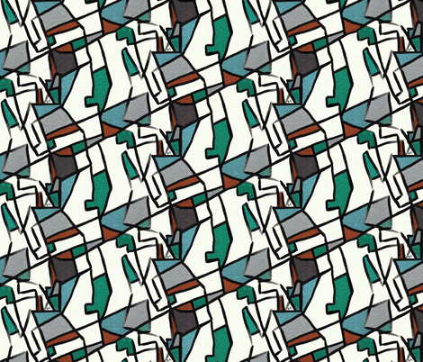 Cubism after Delaunay by Su_G fabric by su_g on Spoonflower - custom fabric