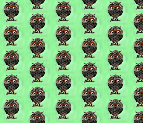 owl fabric by vinkeli on Spoonflower - custom fabric