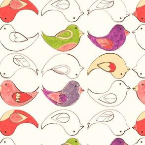 Crayon Birds [napkin]