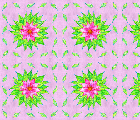 Crayon Flower Napkin fabric by nezumiworld on Spoonflower - custom fabric