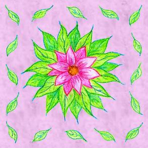 Crayon Flower Napkin
