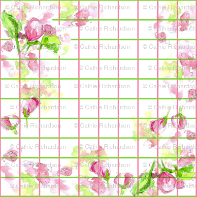 Apple Blossom Plaid