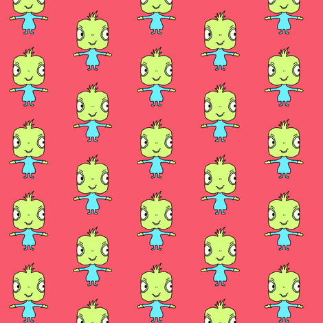 Alien Hugs fabric by kiwiandsteve on Spoonflower - custom fabric
