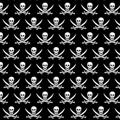 The Jolly Roger fabric by katshxpr on Spoonflower - custom fabric