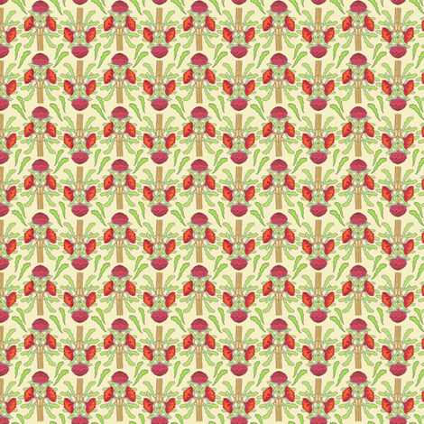 Ivory and butter spring waratah colorways in a yard