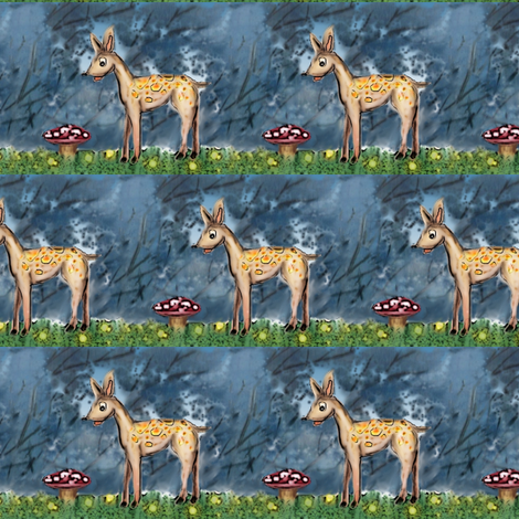 oh deer fabric by vinkeli on Spoonflower - custom fabric