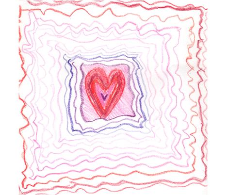 The Rainbow Heart fabric by agb on Spoonflower - custom fabric