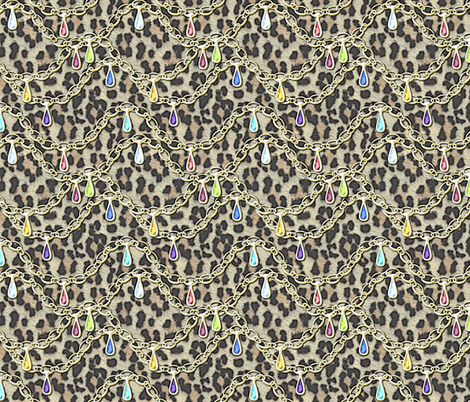© 2011 Grande Jewelled Leopard fabric by glimmericks on Spoonflower - custom fabric
