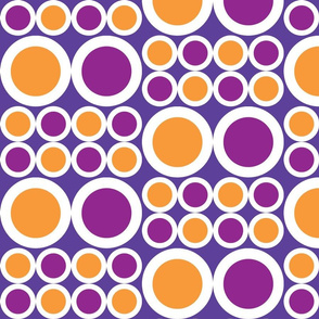 Large Orange & Purple Dots