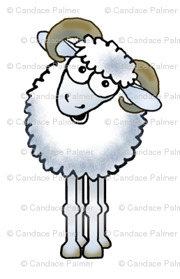Cartoon ram Aries sign