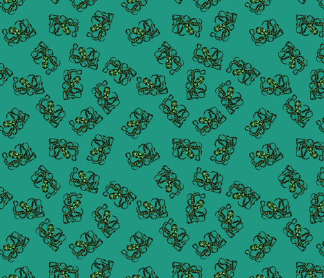 Eerie Octopus fabric by corinnevail on Spoonflower - custom fabric