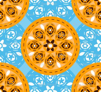 Sky Blue Orange