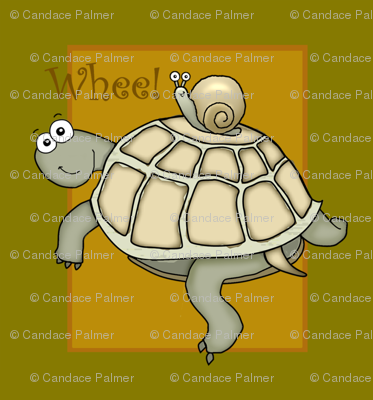 Turtle and snail cartoon.