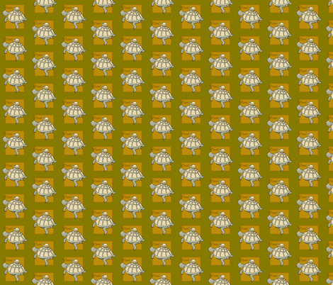 Turtle and snail cartoon. fabric by graphicdoodles on Spoonflower - custom fabric