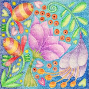 Fantastical Floral Serviette