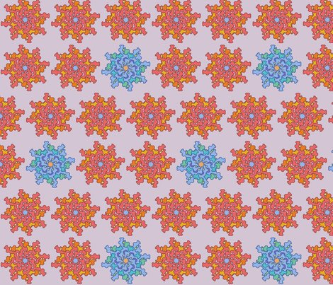 Rgother_flower_six_corals_and_blues_in_mauve_shop_preview