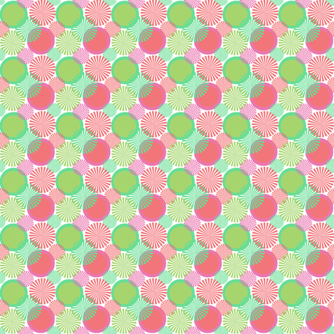 pink_and_green_retro_circles fabric by mayabella on Spoonflower - custom fabric