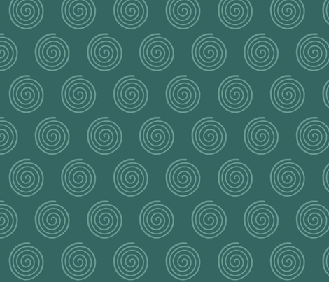 SpiritoftheSea_Spiral_DK-BLUEGREEN fabric by mina on Spoonflower - custom fabric