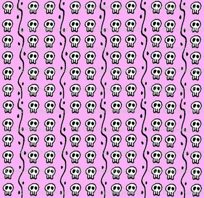 tiny pink skulls