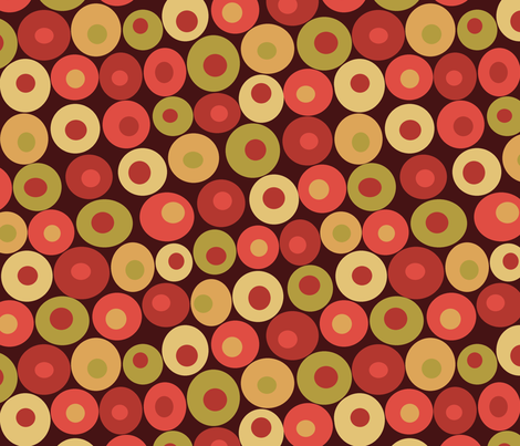 dotsy apple fabric by littlerhodydesign on Spoonflower - custom fabric