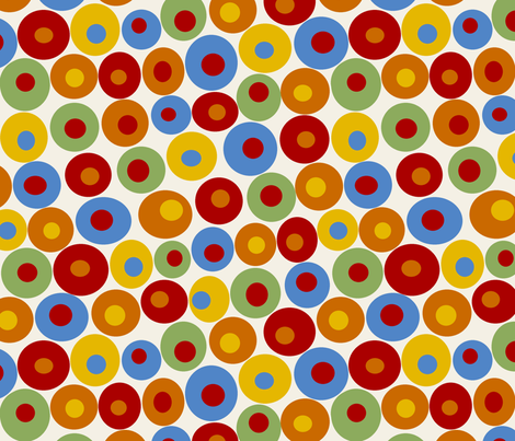 dotsy circus fabric by littlerhodydesign on Spoonflower - custom fabric