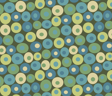 dotsy rain fabric by littlerhodydesign on Spoonflower - custom fabric