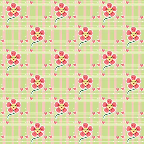 Happy Flower #1 fabric by mikka on Spoonflower - custom fabric