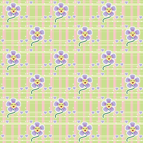 Happy Flower #2 fabric by mikka on Spoonflower - custom fabric