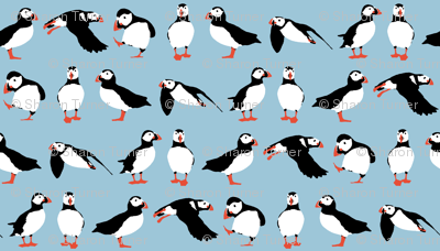 just puffins aquamarine small