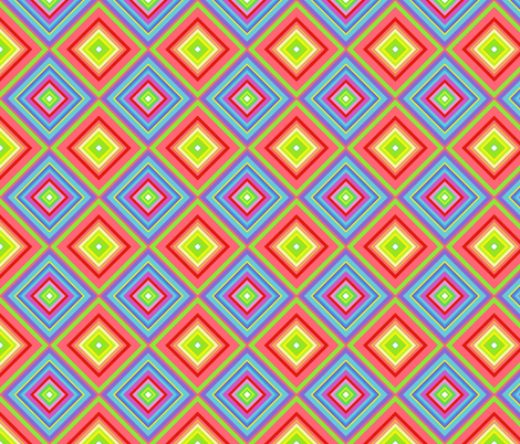 diamonds for crayon kokeshi dolls fabric by scrummy on Spoonflower - custom fabric