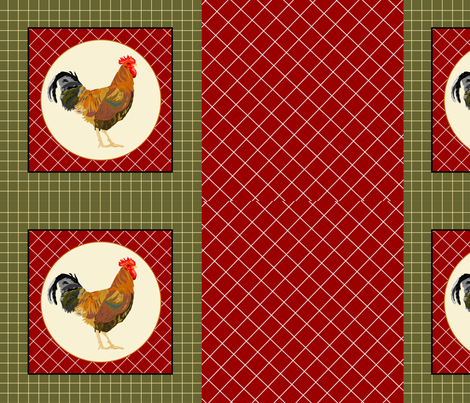 Rooster Pillows fabric by sewbiznes on Spoonflower - custom fabric