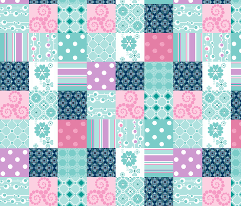 cheater's quilt (number 1) fabric by delsie on Spoonflower - custom fabric