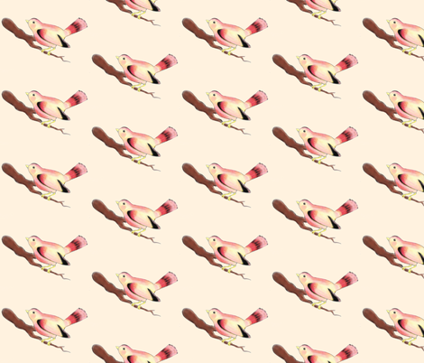 The Pretty Bird fabric by beesocks on Spoonflower - custom fabric