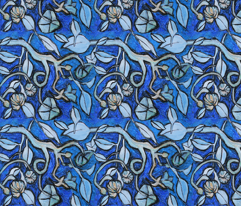 Paloma's garden fabric by paloma_le_sage on Spoonflower - custom fabric
