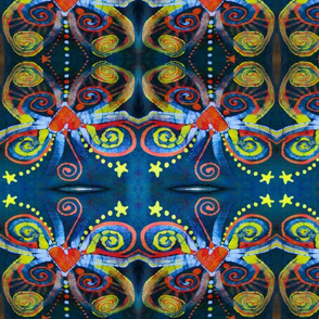 Aqua Love Batik Butterfly