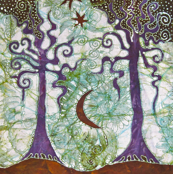 Two Trees by Batikwalla
