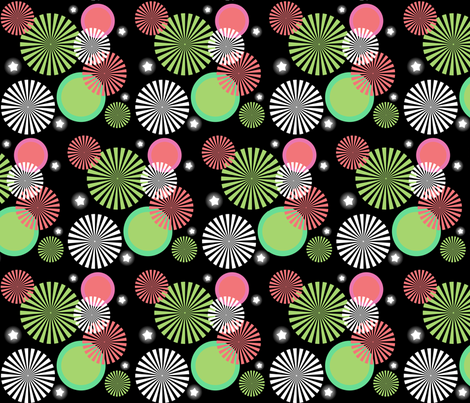 Watermelon Fireworks Show fabric by mayabella on Spoonflower - custom fabric