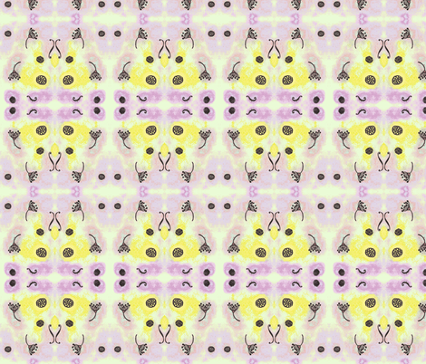 seedsandbeads big yellow and lilac fabric by mimi&me on Spoonflower - custom fabric