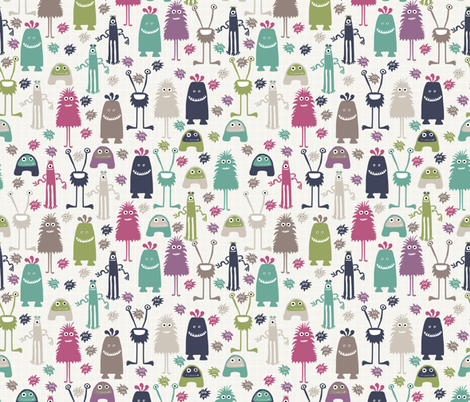 monster mash III fabric by mondaland on Spoonflower - custom fabric