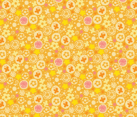 spring garden II fabric by mondaland on Spoonflower - custom fabric