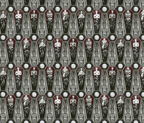 The undead Abed (half scale) fabric by ceanirminger on Spoonflower - custom fabric